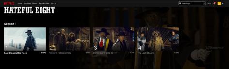 Netflix komt met extended versie van Hateful Eight, maar niet voor België