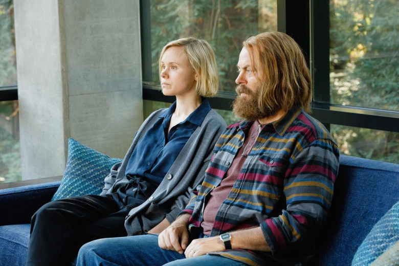 "DEVS ""Episode 5"" (Airs Thursday, March 26) -- Pictured: (l-r) Alison Pill as Katie, Nick Offerman as Forest. CR: Raymond Liu/FX"