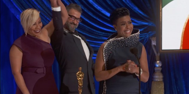"""THE OSCARS® - The 93rd Oscars will be held on Sunday, April 25, 2021, at Union Station Los Angeles and the Dolby® Theatre at Hollywood & Highland Center® in Hollywood, and international locations via satellite. """"The Oscars"""" will be televised live on ABC at 8 p.m. EDT/5 p.m. PDT and in more than 200 territories worldwide. (ABC/AMPAS)JAMIKA WILSON, SERGIO LOPEZ-RIVERA, MIA NEAL"""