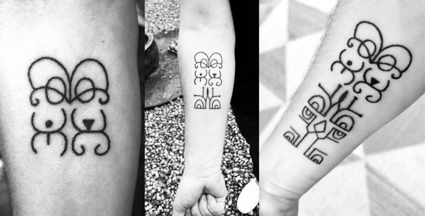 Hand Poked Tattoo