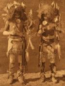 Zuni dancers: detail of photograph by Edward Curtis: 1914, [public domain]