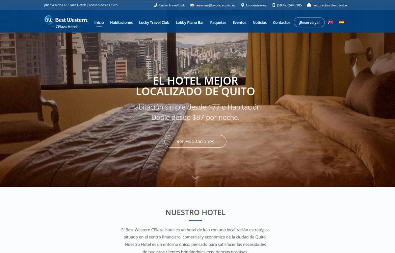 BW CPlaza Hotel Homepage
