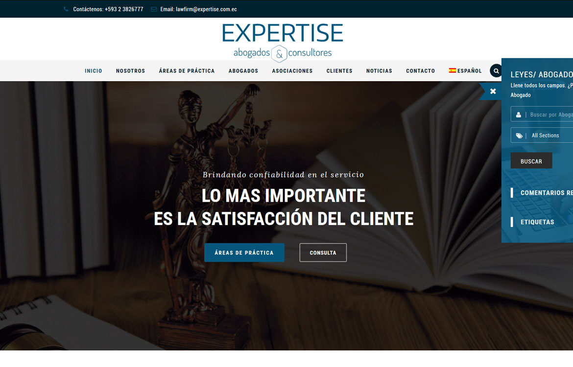 Expertise Homepage