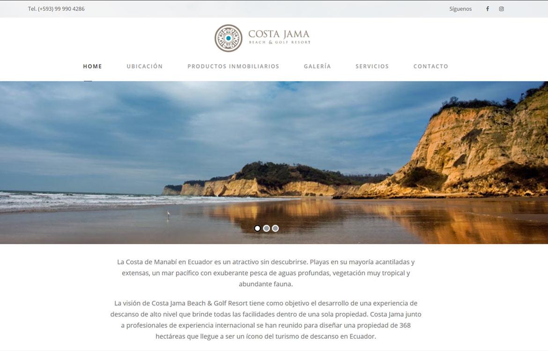Costa Jama Homepage
