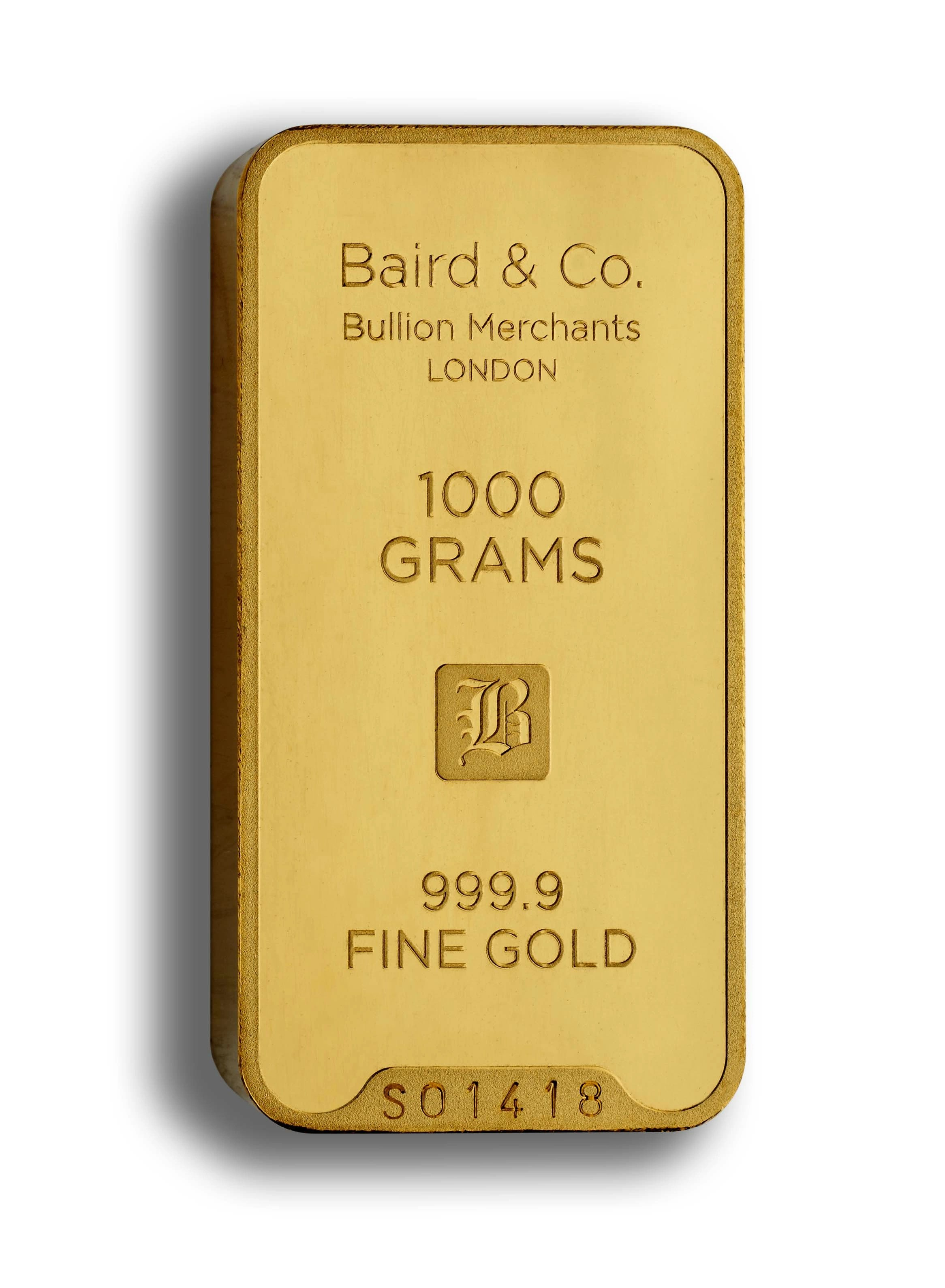gold minted bar 1000