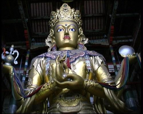 Immagine di Avalokitesvara del monastero di Ganden, Ulaan Baatar