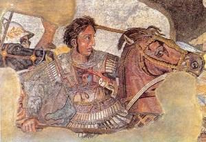 Alessandro Magno. Battaglia di Isso. Museo Archeologico Nazionale di Napoli