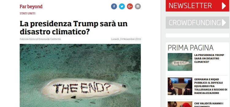 Trump vs ambiente, l'analisi di Emanuele Confortin e Fabrizio Goria