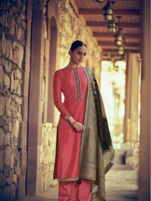 Varsha Kathaa Vol 2 Kora Silk with Embroidery and Weaving Suit KT-26 Sale