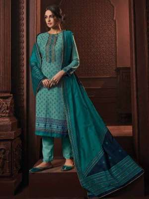 Varsha The Handloom Tales Cotton Printed with Embroidery Suit HT-108 Sale