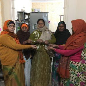 Traveling Mala with Widows of Vrindavan.