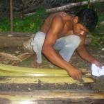 Indios Tupissara mostra em pratica o que aprendeu na oficina Agrofloresta.