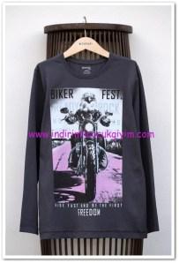 DeFacto genç erkek renk değiştiren baskılı tişört-20 TL