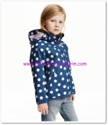 HM-kız çocuk koyu mavi kapşonlu soft shell ceket-80 TL