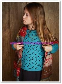 Mango kız çocuk boncuklu yün karışımlı kazak-30 TL