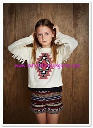 Mango kız çocuk etnik desenli şort-35 TL