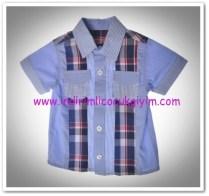 Panço erkek çocuk mavi çizgili gömlek-14,50 TL