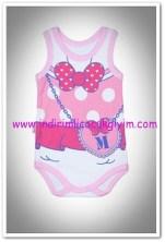Tozlu Giyim önü baskılı pembe kız bebek body-13 TL