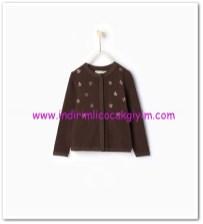 Zara kız çocuk kahverengi taşlı hırka-50 TL