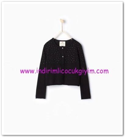 Zara kız çocuk siyah taşlı kısa hırka-60 TL