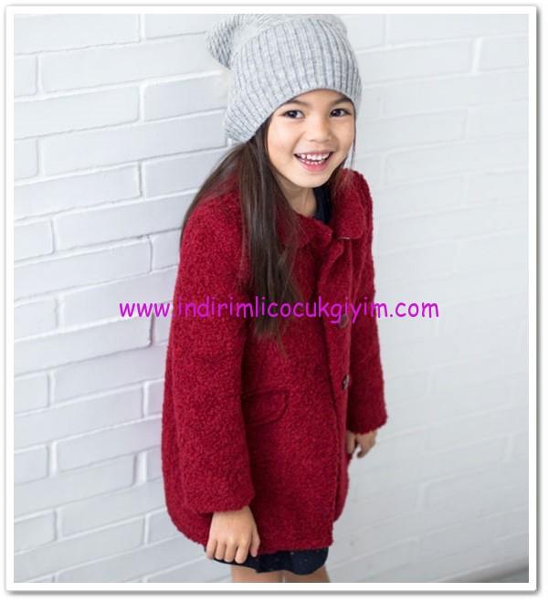 Zara kız bebek bordo palto-140 TL