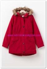 DeFacto genç kız kırmızı kapşonlu parka-70 TL