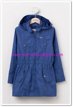 DeFacto genç kız mavi kapşonlu trend mont-60 TL