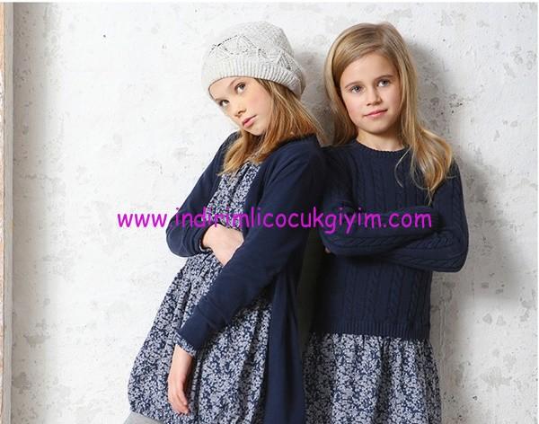 Kanz 1-14 yaş kız çocuk kazak-hırka modelleri