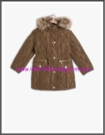 Koton kız çocuk kapşonlu taba kaban-80 TL