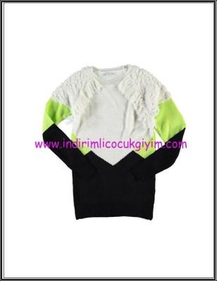 LCW genç kız blok renkli tunik kazak-40 TL