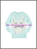 LCW genç kız mint tavşanlı kazak-30 TL