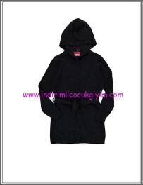 LCW genç kız siyah kapşonlu kuşaklı hırka-30 TL