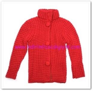 Panço kız çocuk kırmızı hırka-62,50 TL