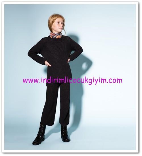 Zara kız çocuk koyu gri örme pantolon-40 TL