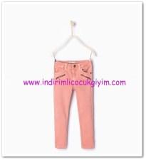Zara kız çocuk pembe fitilli kadife pantolon-36 TL