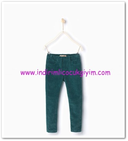 Zara kız çocuk petrol mavisi kadife pantolon-36 TL