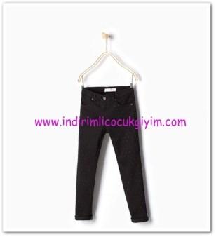 Zara kız çocuk siyah taş işlemeli pantolon-40 TL