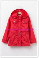 DeFacto kız çocuk kırmızı kapşonlu mont-50 TL
