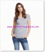 HM-beyaz çizgili hamile bluz-25 TL