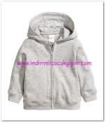 HM-kız bebek gri kapüşonlu ceket-25 TL