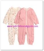 HM-kız bebek pembe 2 li pijama-40 TL