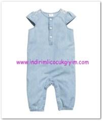 HM-kız bebek puantiyeli kot tulum-50 TL