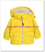 HM-kız bebek sarı kapüşonlu yağmurluk-70 TL