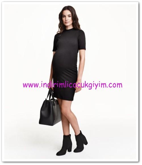 HM-siyah-ribanalı jarse elbise-70 TL