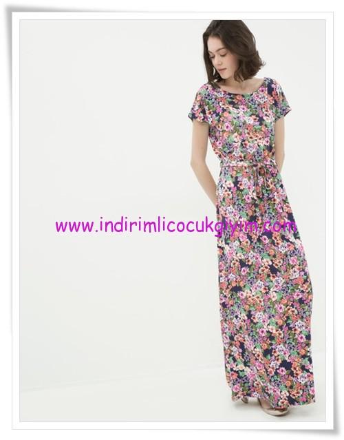 Koton çiçek desenli maksi elbise-70 TL