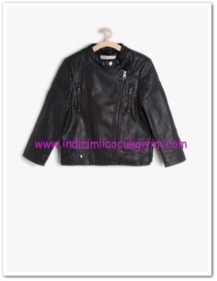 Koton erkek çocuk siyah deri ceket-76 TL