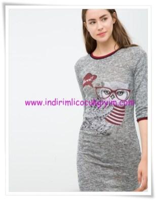 Koton gri baykuş desenli spor genç kız elbise-18 TL