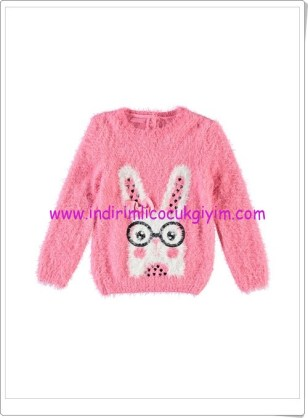 LCW kız çocuk pembe tavşanlı kırpık kazak-36 TL