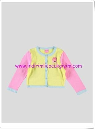 LCW kız çocuk sarı-pembe hırka-30 TL