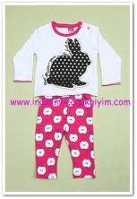 Tozlu Giyim tavşan baskılı bebek 2li takım-20 TL